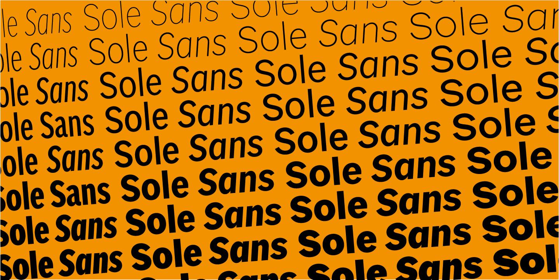 Sole Sans – Cast Type Foundry