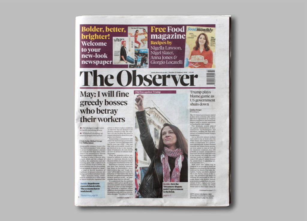 The new Observer cover layout
